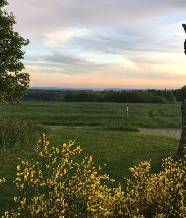 Uitzicht bij zonsondergang